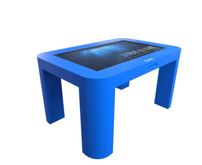Интерактивный стол для детей синий_1
