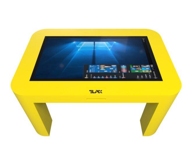 Интерактивный стол для детей желтый_3