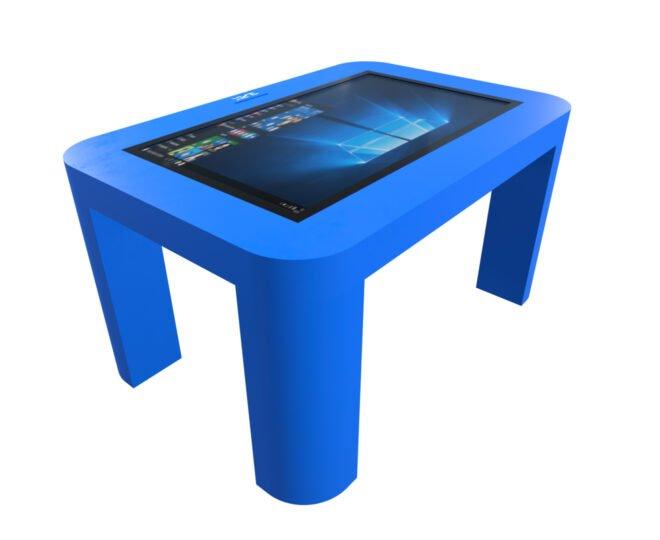 Интерактивный стол для детей синий_3