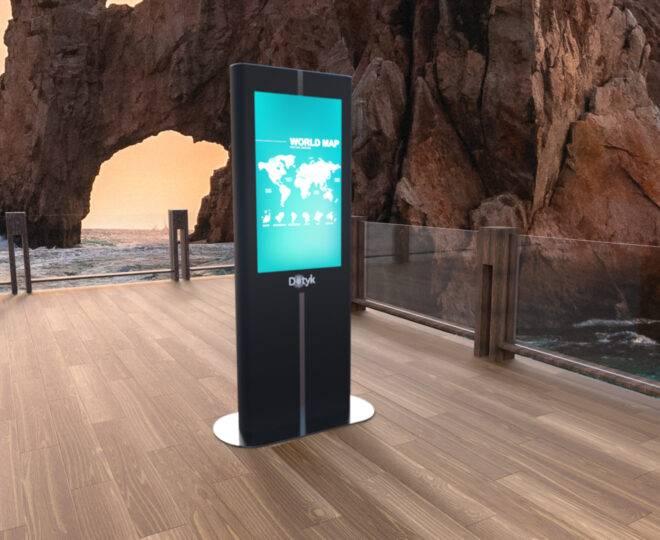 Интерьерные фото черной интерактивной стойки Elpix V9