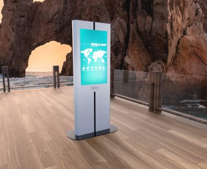 Интерьерные фото белой интерактивной стойки Elpix V9