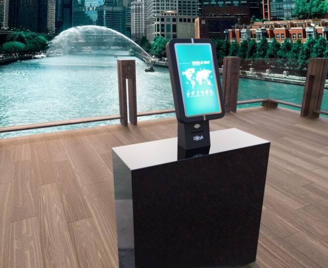 Интерактивный терминал Elpix U5 в интерьере