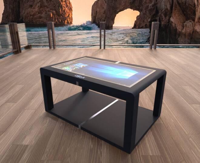 Интерьерные фото черного сенсорного стола Elpix S12