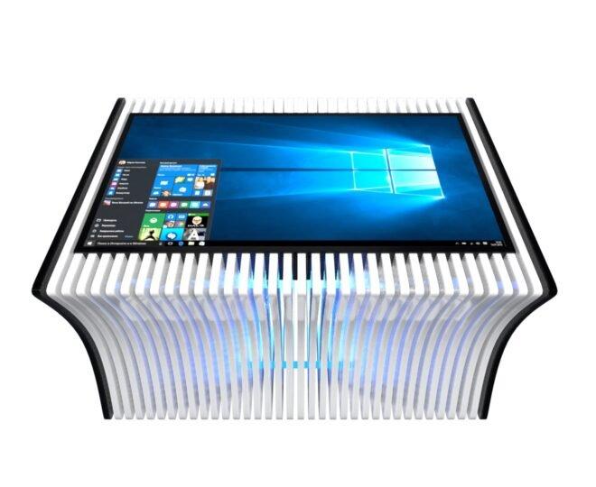 Параметрический стол с сенсорным экраном белый_2