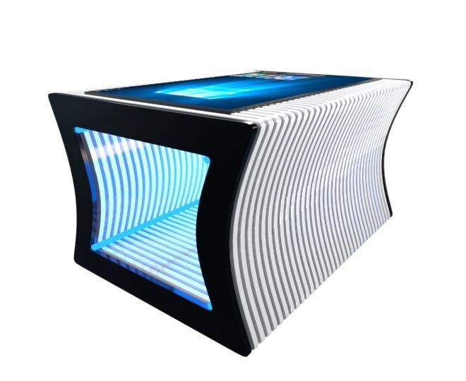 Параметрический стол с сенсорным экраном белый_3