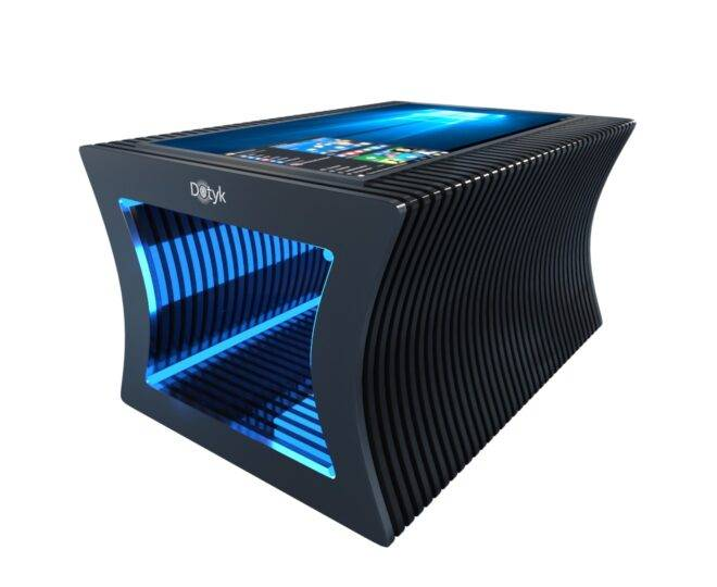 Параметрический стол с сенсорным экраном черный_4
