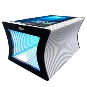 Параметрический стол с сенсорным экраном белый_1