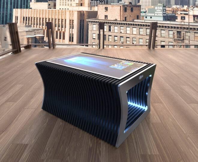 Интерьерные фото черного сенсорного стола ELPIX SP3