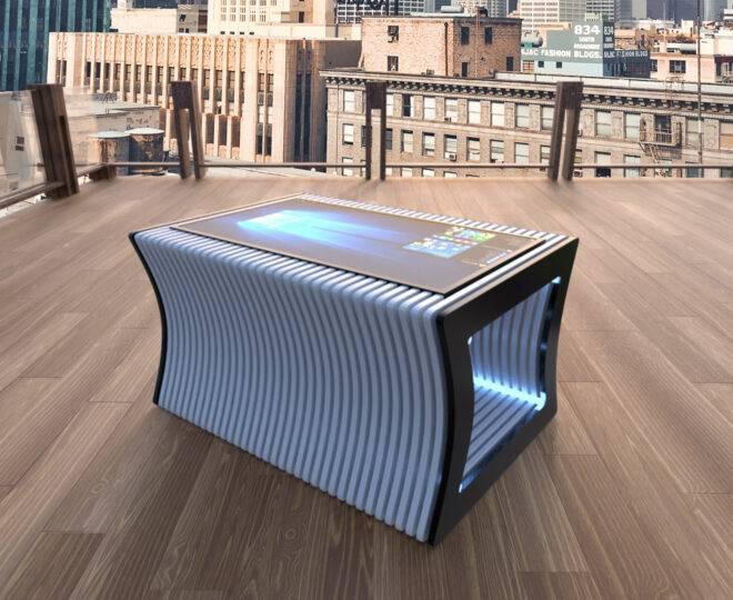 Интерьерное фото сенсорного стола ELPIX SP3