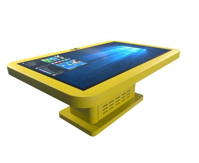 Интерактивный детский столик желтый_3