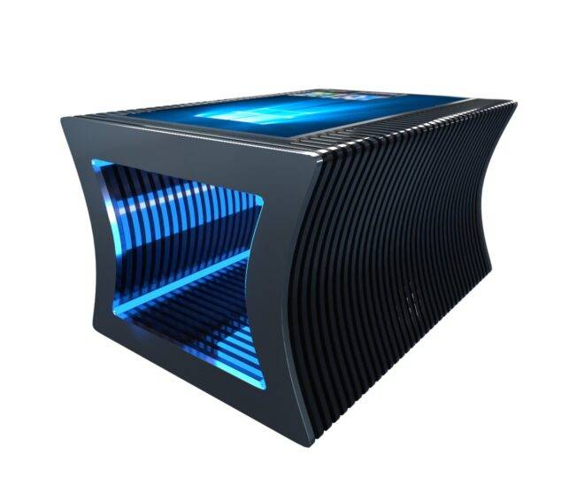 Параметрический стол с сенсорным экраном черный_2