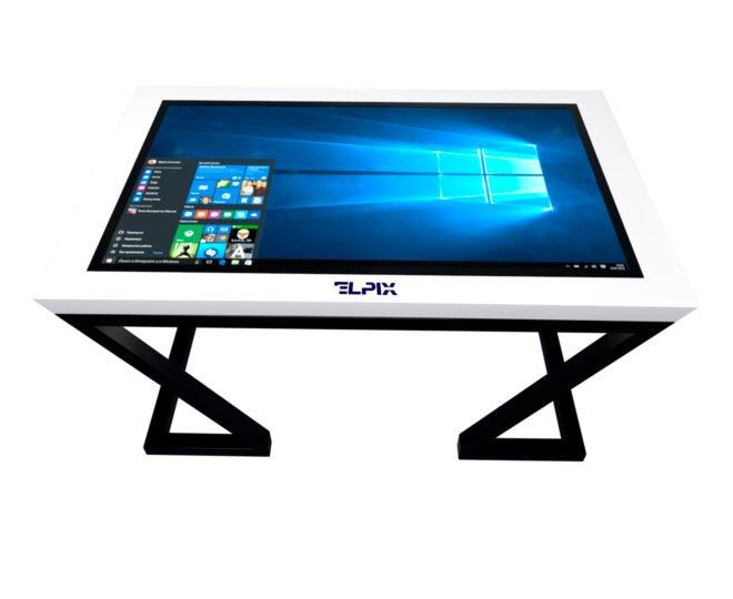 Тач стол с сенсорный дисплеем белый_3