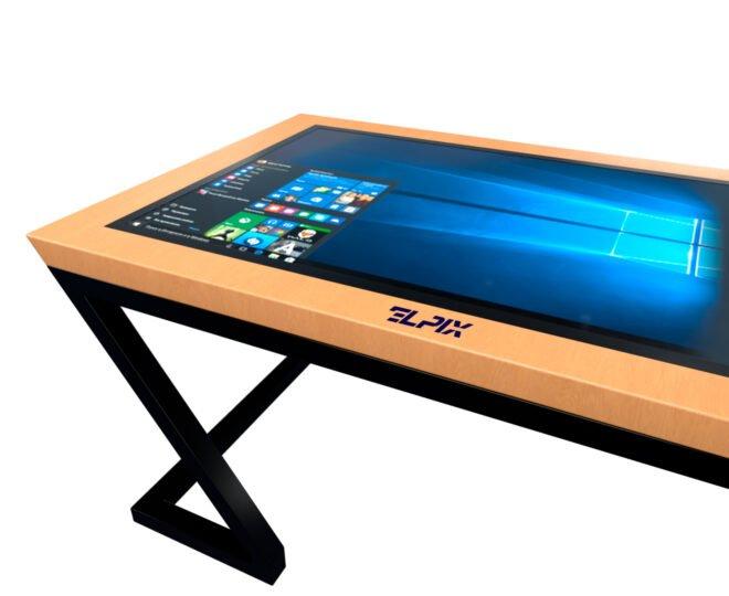 Інтерактивний стіл Elpix S6 із дерев'яним корпусом_3