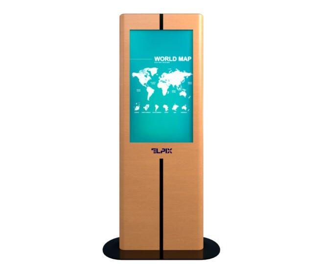 Вертикальная интерактивная стойка из дерева_2