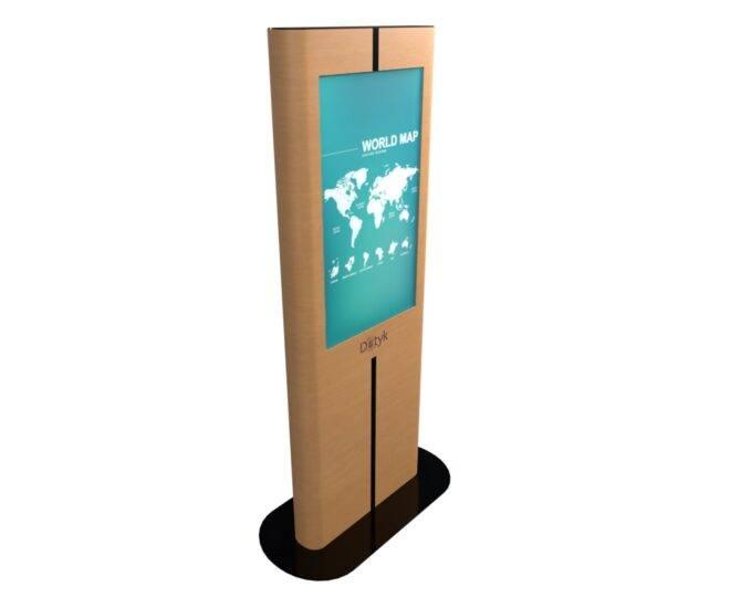 Вертикальная интерактивная стойка из дерева_1