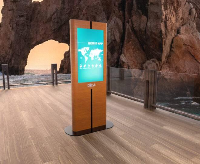 Интерьерное фото сенсорной стойки Elpix V9