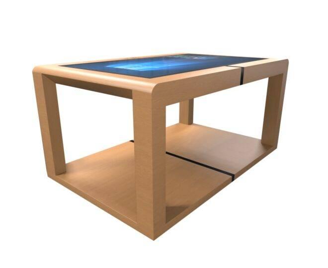 Інтерактивний сенсорний стіл з дерев'яним корпусом Elpix S12_2