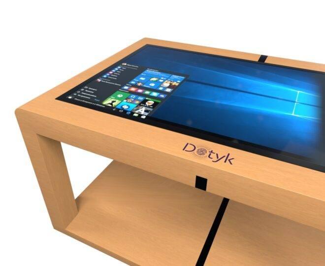 Інтерактивний сенсорний стіл з дерев'яним корпусом Elpix S12_3
