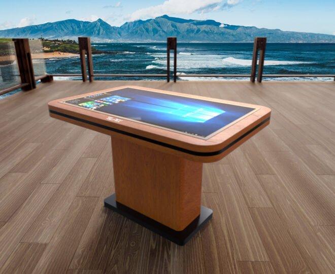 Интерьерные фото деревянного сенсорного стола Elpix S2
